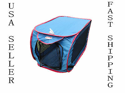 """32"""" Dog Kennel Portable Folding Pet House Crate Cage Carrier Home & Auto Travel"""