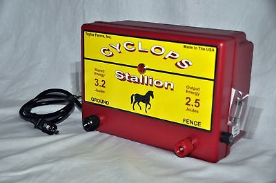Cyclops Stallion 2.5 Joule Ac Powered Electric Fence Charger Energizer 25 Acre