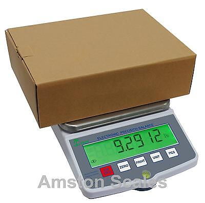 High Capacity Large 12x8 Digital Balance Scale 20000 X 0.1 Gram Counting Bench
