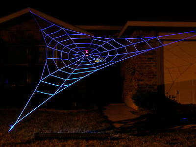 25' GIANT GlowWeb Rope Spider Web Halloween House Yard Prop Decoration](Giant Spider Web Decoration Halloween)
