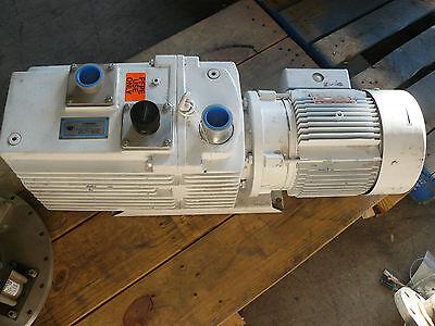 Leybold D60ac Trivac Rotary Vane Vacuum Pump With Ge 5k184f13440 Motor
