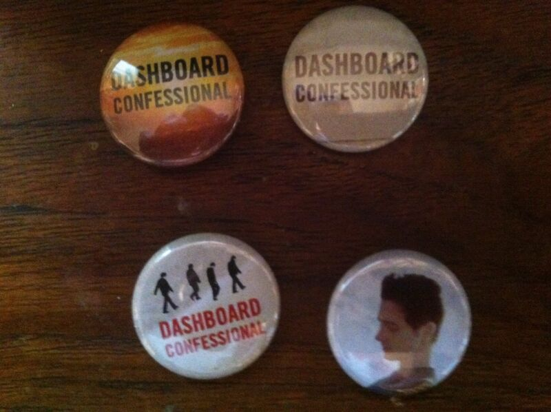 Dashboard Confessional buttons/pins 4 New Chris Carrabba
