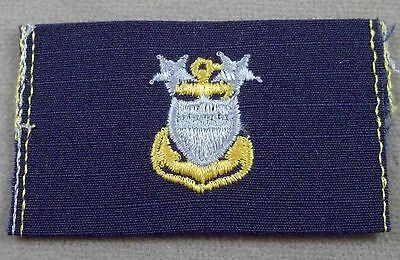 US Coast Guard Cloth Collar Rank Insignia Master Chief Petty Officer - New Pair Coast Guard Officer Rank