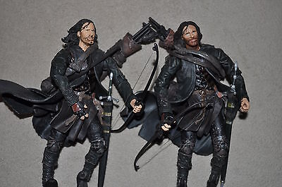 LORD OF THE RINGS FOTR BATTLE 5 ARMIES ARAGORN EARLY PRODUCTION DK BEARD VARIANT - Lord Of The Rings Beards