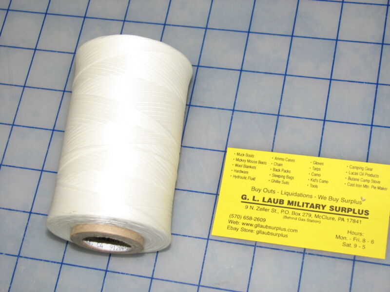 white nylon tape lacing and tying type 1 finish C size 4 500 yards 25lbs test