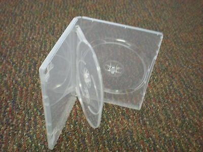 2 Slim 14mm Super Clear Triple 3 Dvd Case Boxes - Tn3 Free Shipping