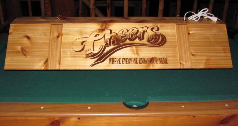 LED Cheers Pool Table Poker Bar Pub Billiards Wood Light No Bulbs Needed Led!
