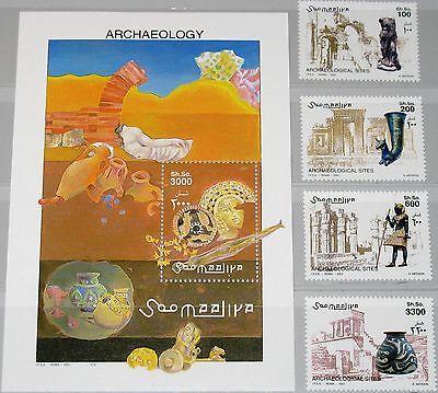 SOMALIA 2001 901-04 Block 81 Archäologische Fundstätten Ancient find sport MNH