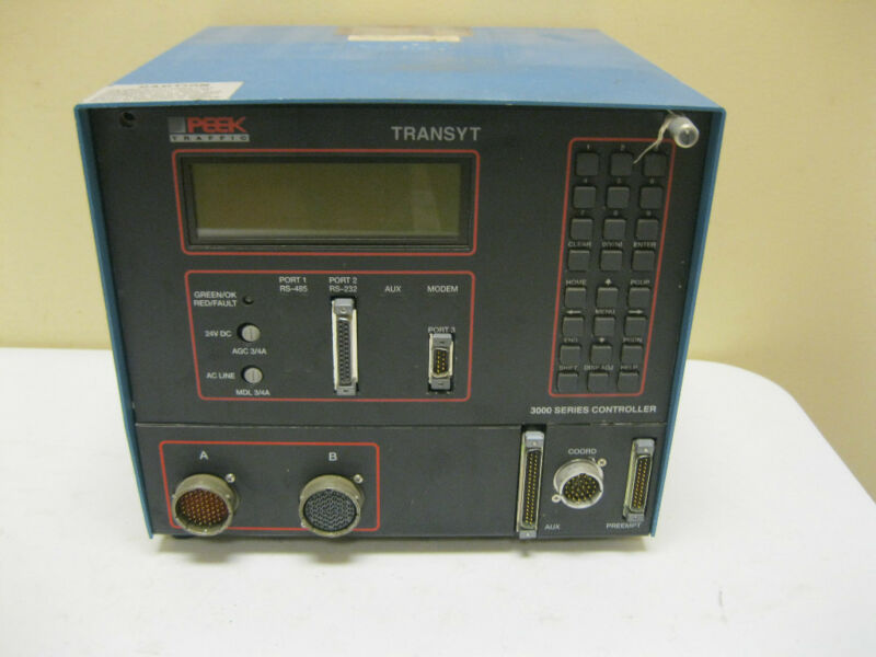TRANSYT PEEK TRAFFIC LIGHT 3000 SERIES CONTROLLER SIGNAL CONTROL MONITOR