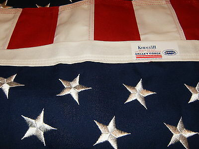 Koralex Usa Flag - Valley Forge American Flag 4'x6' sewn/embroidered Stars Koralex II 100% USA Made