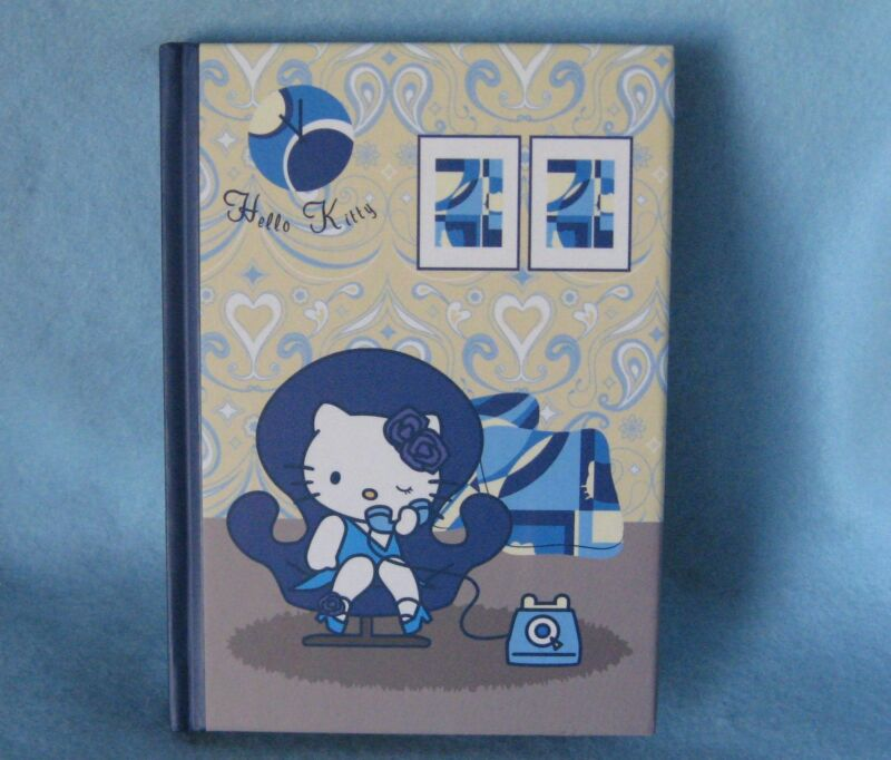 Sanrio Hello Kitty Hard Cover Notebook Telephone Vintage 1976-2004 NEW