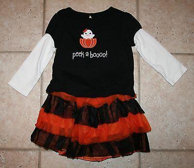 EUC Gymboree Girls Size 2T Halloween Fall Top Costume Skirt Ghost - Top Toddler Girl Halloween Costumes