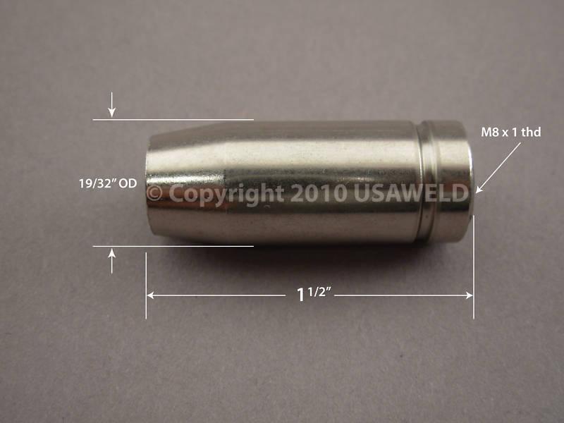 Silver Beauty Mig Welder Gas Nozzle Parts 90070-71