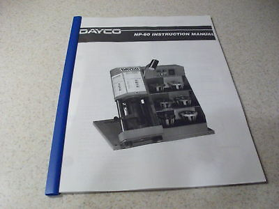 Dayco Np 60 Hydraulic Hose Crimper Machine Operators Instruction Manual