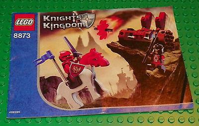 LEGO 8873 - Knights Kingdom Fireball Catapult - INSTRUCTION - Catapult Instructions