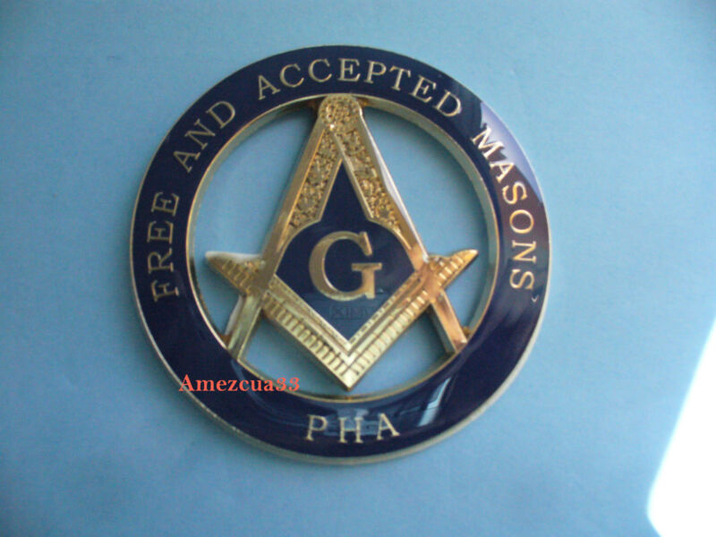 Master Mason PHA Car Emblem F&AM Prince Hall Affiliated Auto Emblem Freemason