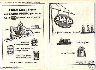 AMOCO        American Oil Company           Agricultural Ads         1947 & 1953