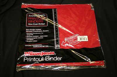 Wilson Jones Printout Report Binders 14 78 X 11 Qty 24 Continuous Feed Printout