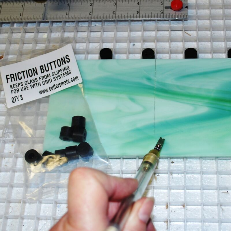 Cutters Mate Grid Accessory FRICTION BUTTONS will stop glass for cutting ease