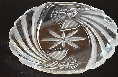 Gorham Holiday Tradition Crystal Angel Oval Candy Dish -