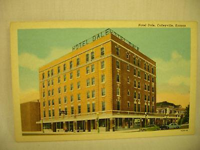 Vintage Postcard Hotel Dale Coffeyville Kansas Unused Circa 1940