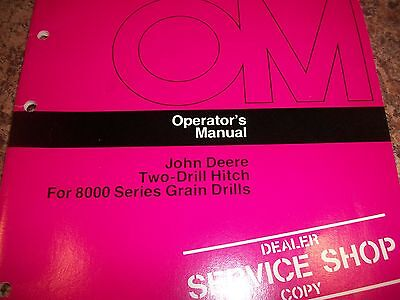 John Deere Operators Manual Two-drill Hitch For 8000 Series Grain Drills