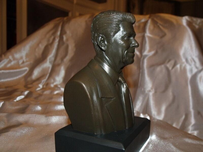 "Ronald Reagan Bust / Statue : NEW IN BOX  6"" High / BRONZE"