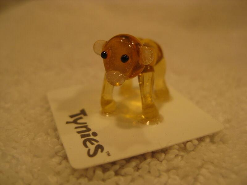 Rod Gorilla Monkey yellow Tynies Tiny Glass Figure Figurine Collectible 0073