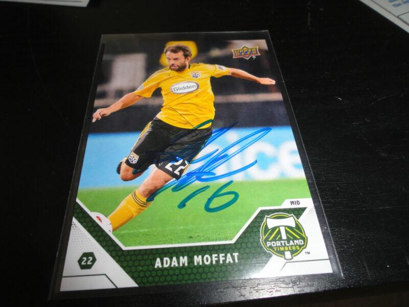 Portland Timbers Adam Moffat Autographed Signed 2011 UD Upper Deck MLS Card