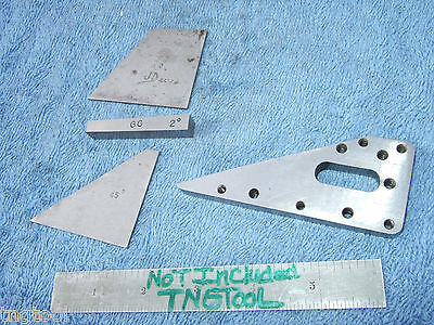 Angle Blocks 4 Vintage Toolmaker Machinist Inspection Grinding Mill Lay-out Qa