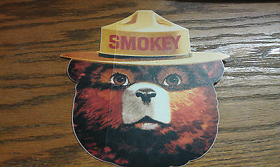 SMOKEY THE BEAR, LARGE, GOOD FOR TRUCK DOOR, 6""