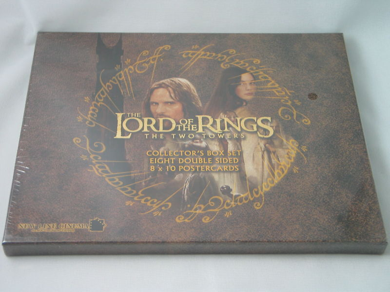 LOTR LORD OF THE RINGS POSTERCARD POSTER CARD SET II 2 FACTORY SEALED