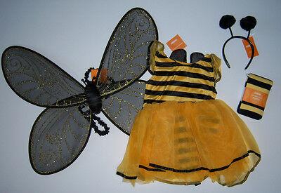 NWT Gymboree Bumble Bee Tutu Costume 4/4T-5/5T Antenna Wings & Stripe Tights (Bumble Bee Tutu)