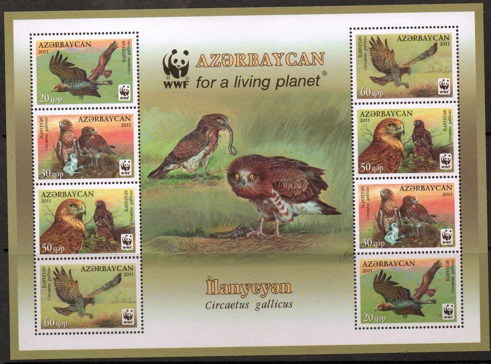 AZERBAIJAN 2012 WWF BIRDS SHEELET ( NO1) MNH