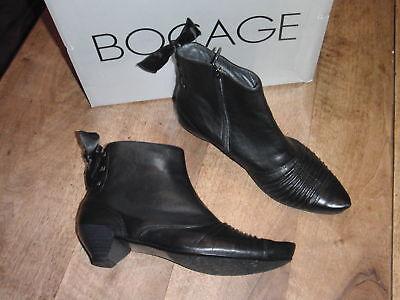 3 Cm Größer Stiefel (Bocage Jimo Stiefel Schwarzes Leder Neu Absatz 3cm Wert 129 Schuhgrößen 35.5)