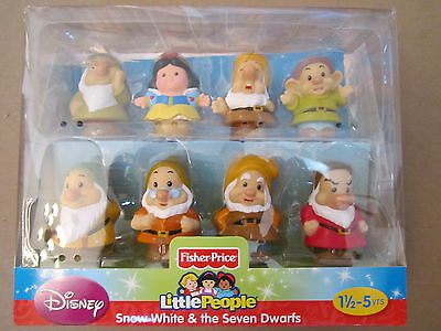 Fisher Price Little People Disney Princess Snow White Seven 7 Dwarves Dwarf set
