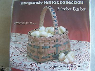 Market Basket Making Kit New Burgundy Hill