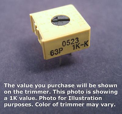 38 Square Single Turn Cermet Trimmer Potentiometer 5k Ohms Top Adjust