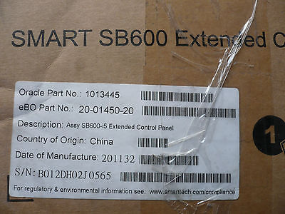 New Smart Sb600 Extended Control Panel For 600i4 Whiteboard Sb600-i5 1013445