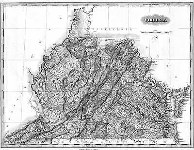 1862 VA MAP BEDFORD BRUNSWICK BUCHANAN CARROLL COUNTY Virginia History ITS HUGE