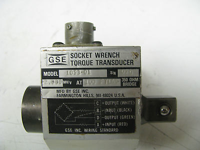 Gse Socket Wrench Torque Transducer 100 Ft Lbs - Gse8
