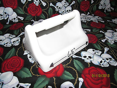 Toilet Paper Tissue Holder Arctic White Ceramic Expedited Shipping Included Ceramic Toilet Tissue Holder