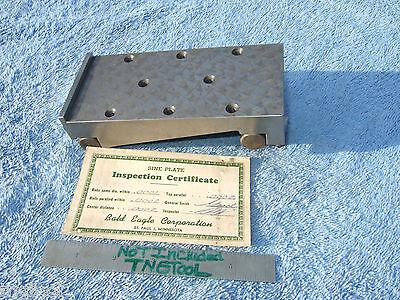 Sine Plate 3x6 Bald Eagle Sine Plate Toolmaker Machinist Grind Inspect Edm Mill