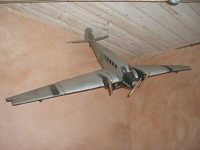 ORIGINAL Junkers Flugzeug JU Werks Blech Modell von ca. 1930 Spannweite 140 cm