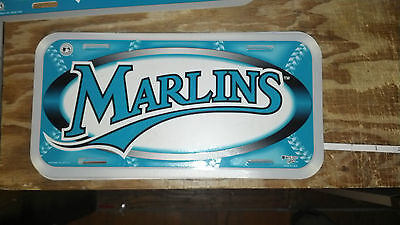 FLorida Marlins Teal/White License Plate Tag Baseball