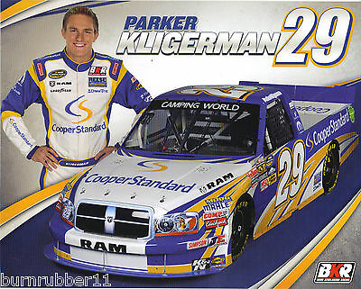 2012 Parker Kligerman  Cooper Standard   29 Nascar  Cwts  Postcard