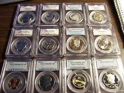 PCGS GRADED COINS-MIXED BOX-1 BUY=2 SLABS & 1 EXTRA RANDOMLY PULLED FROM BOX