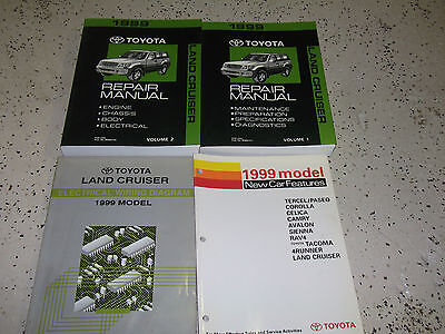 1999 Toyota LAND CRUISER Service Repair Shop Manual Set OEM FACTORY 4 BOOKS EWD