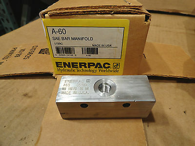 Enerpac A-60  5 Port Bar Manifold. Hydraulic Pump Valve Motor Part