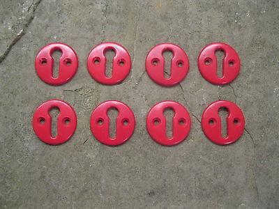 Original Bakelite Red Key Hole Escutcheon  KH1